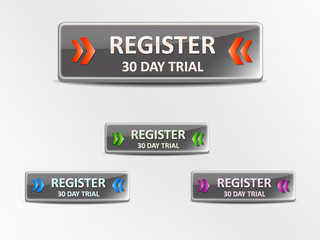 Register 30 day trial vector stickers