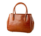 Nice brown crocodile leather woman's bag