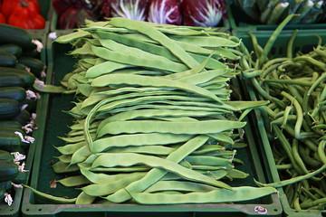 Bohnen auf dem Markt