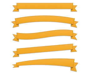 Orange retro ribbons