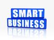 smart business in blue blocks