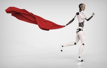 Humanoid con Telo Rojo