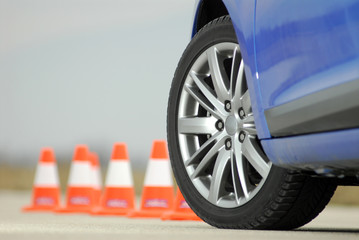 wheel and cone