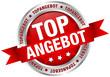 """Button Banderole """"Topangebot"""" rot/silber"""