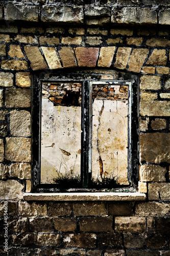 derelict window frame