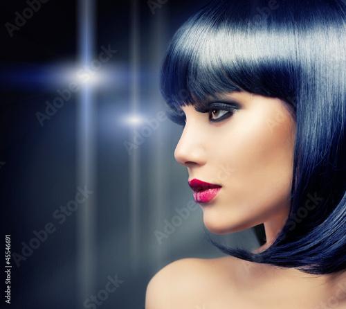 Beautiful Brunette Girl. Healthy Black Hair - 45546691