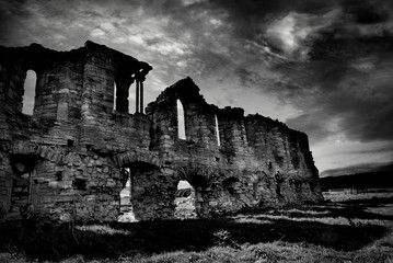 bw abbey ruin