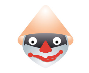 clown with orange cap