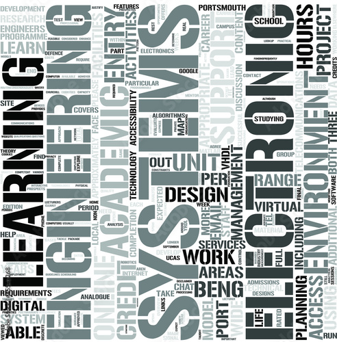Electronic SystemsEngineering3yrDL Word Cloud Concept