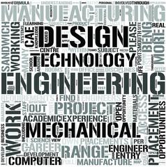 MechanicalManufacturingEngineering Word Cloud Concept