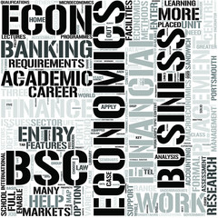 EconomicsFinance and Banking Word Cloud Concept