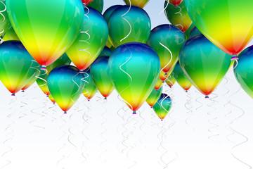 fondo con globos de colores
