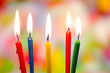 Fünf Geburtstagskerzen