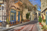 Traditional houses at Plaka area,Athens,Greece - 45548496