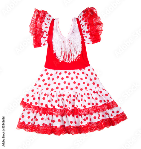 Baby red dress with polka dots