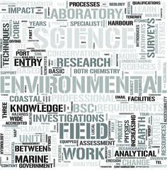 Environmental Science Word Cloud Concept