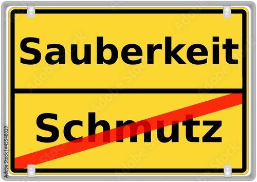 Sauberkeit vs. Schmutz
