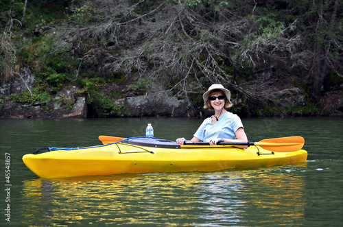 Smiling Woman in Kayak