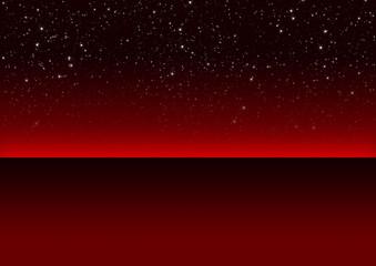 Nachthimmel, Kristallklar, Eis, Winter, Hintergrund, Rot, kalt