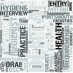 DentalHygiene and DentalTherapy Word Cloud Concept