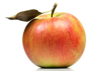 Apfel mit Blatt