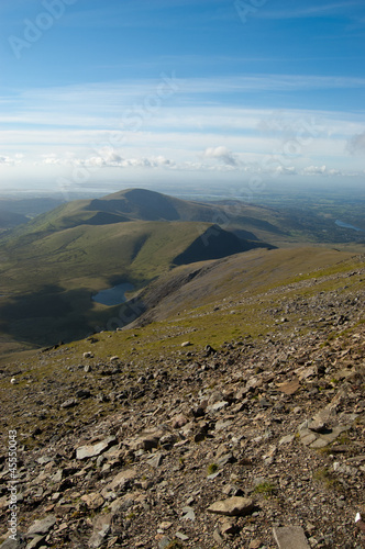 Mountain scenery around Snowdon in North Wales