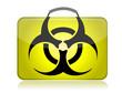 dangerous biohazard suitcase yellow illustration