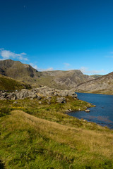 lake and mountains of snowdonia - North Wales
