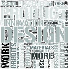 Product Design and Innovation Word Cloud Concept
