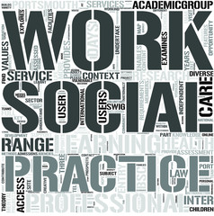 SocialWork Word Cloud Concept