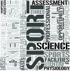 Sport and ExerciseScience Word Cloud Concept