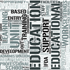 Education Administration Word Cloud Concept