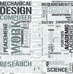 Mechanical Engineering Word Cloud Concept