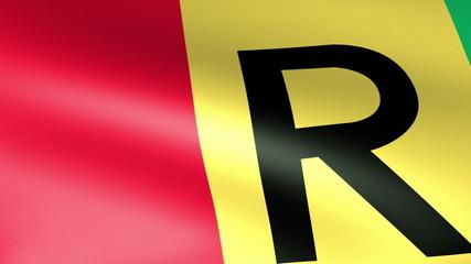 Rwanda Flag Waving