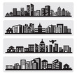 cities silhouette icon - 45552204