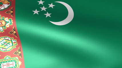Turkmenistan Flag Waving