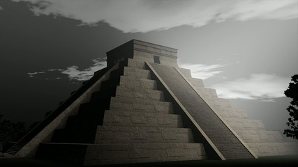 An artist visualize Maya Pyramid.