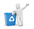 Person with recycling bin