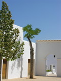 San Miguel de Balansat church courtyard,Ibiza, Spain
