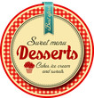 Desserts label