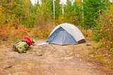 Fall Campsite in the wilds poster