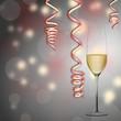 Champagner und Luftschlangen