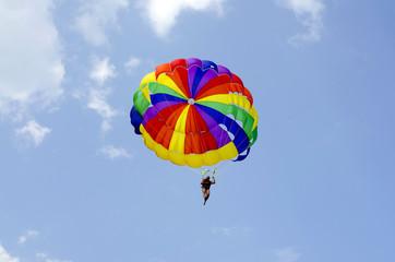 Отдых в Турции – полет на парашюте на тросе за моторной лодкой
