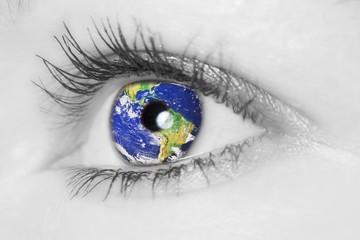 Auge mit Erde _ soft