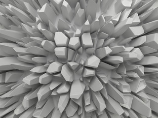 abstract white faceted background © wacomka