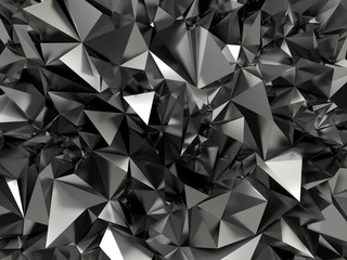 abstract black crystallized background