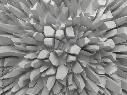 abstract white faceted background