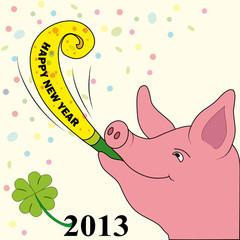 Viel Schwein im Neuen Jahr 2013