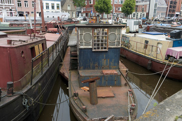 old barge