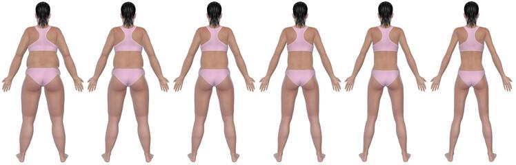 Weight Loss Progress Rear View